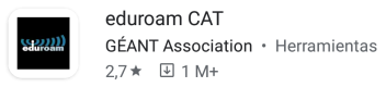 Play Store - App eduroam CAT
